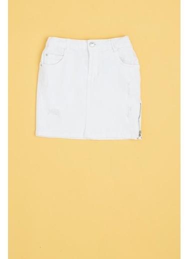 Guess Kız Çocuk Beyaz Etek 20SSGJ01D16 Beyaz